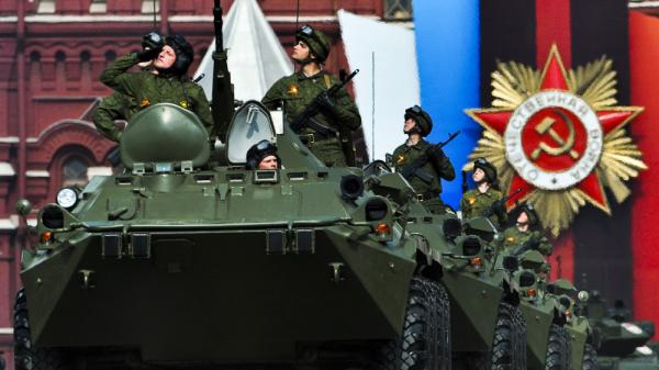 Russian tanks drive through Moscow's Red Square during a military parade in May 2011, in commemoration of the end of World War II. Russian leader Vladimir Putin has called for revamping Russia's military for years, but the results have been limited.