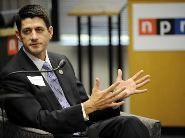 Rep. Paul Ryan, R-Wis., at NPR headquarters in May 2011.