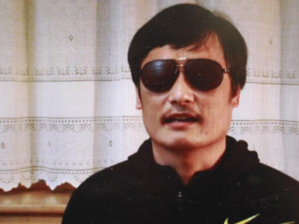 Chen Guangcheng, in an image from a YouTube video.