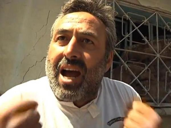 """We are not animals!"" this man told U.N. monitors in Syria."