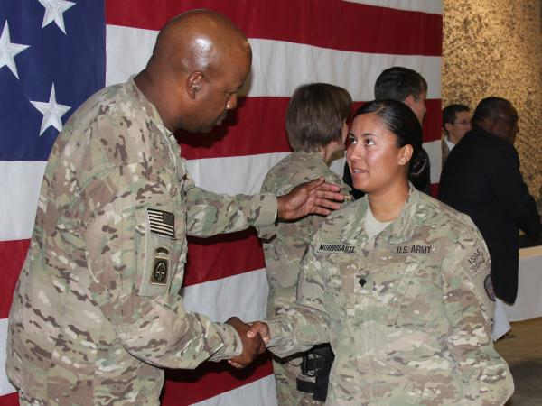 Army Spc. Griselda Murorodarte was born in Mexico and grew up in California.