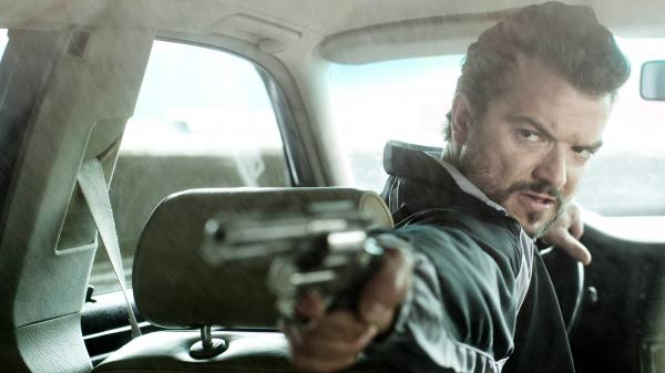 Mrado (Dragomir Mrsic) is the enforcer for a Serbian drug cartel that controls business in Sweden, and one of three characters who clash in <em>Easy Money</em>.