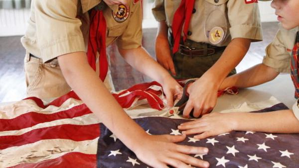 In Mississippi last month, scouts took part in a flag retirement ceremony.