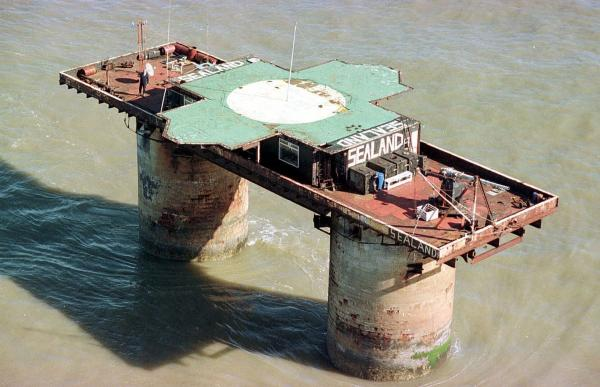 The sovereign principality of Sealand is an artillery platform built during World War II about seven miles off the coast of Essex, England. Paddy Roy Bates founded Sealand in 1967, proclaiming it an independent state.