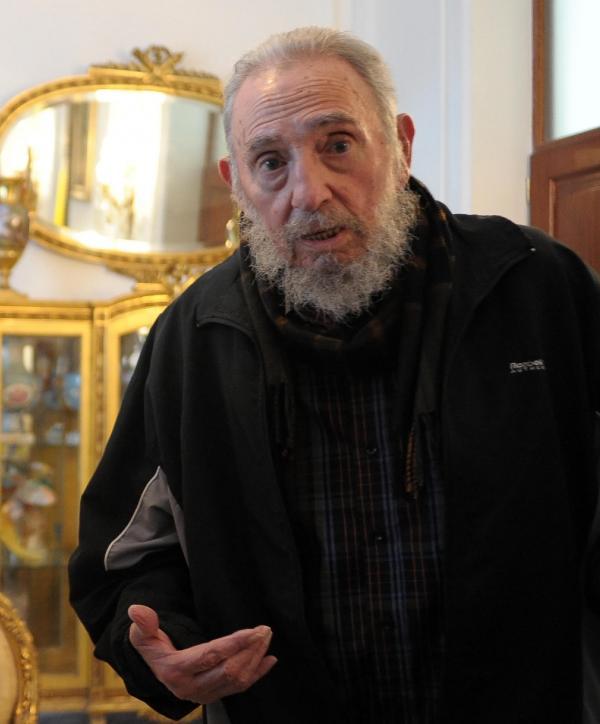 Former Cuban President Fidel Castro in March, when Pope Benedict XVI visited Havana.