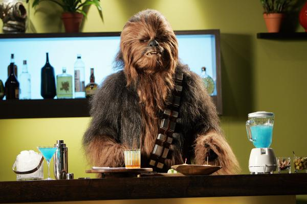 Chewbacca, the furriest of the<em> Star Wars</em> rebels that Freeborn helped create.