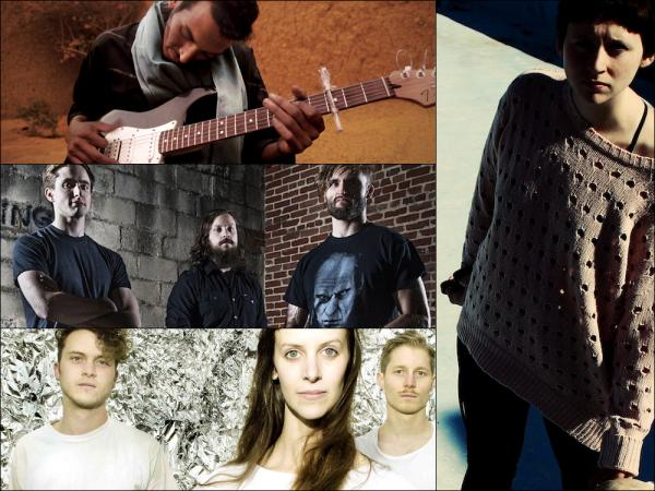 Clockwise from upper left: Bombino, Waxahatchee, Brainstorm, KEN Mode