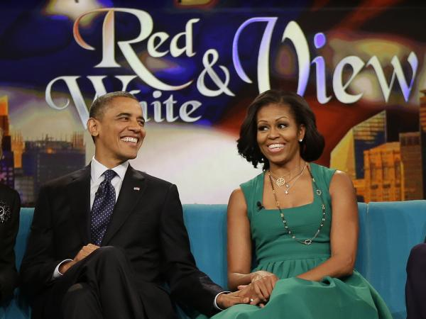 President Obama and first lady Michelle Obama appeared on <em>The View</em> last fall in New York.