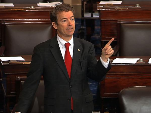 Sen. Rand Paul, R-Ky., during his filibuster.