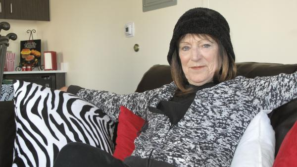 Wanda Rayborn, 63, was homeless for nine years and was living under a tree in downtown San Diego two years ago. She now lives in a newly renovated efficiency apartment — part of an initiative to help get homeless people off the streets.