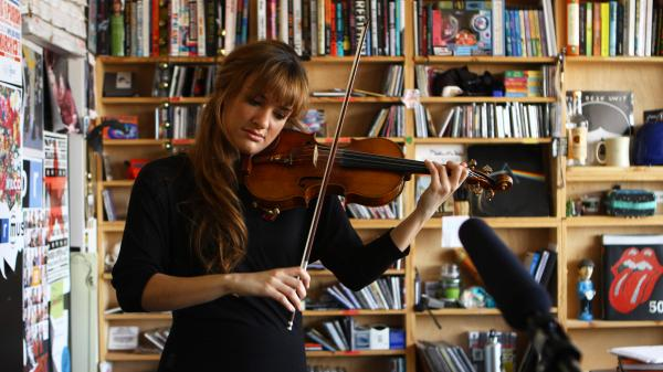 Nicola Benedetti performs a Tiny Desk Concert in February 2013.