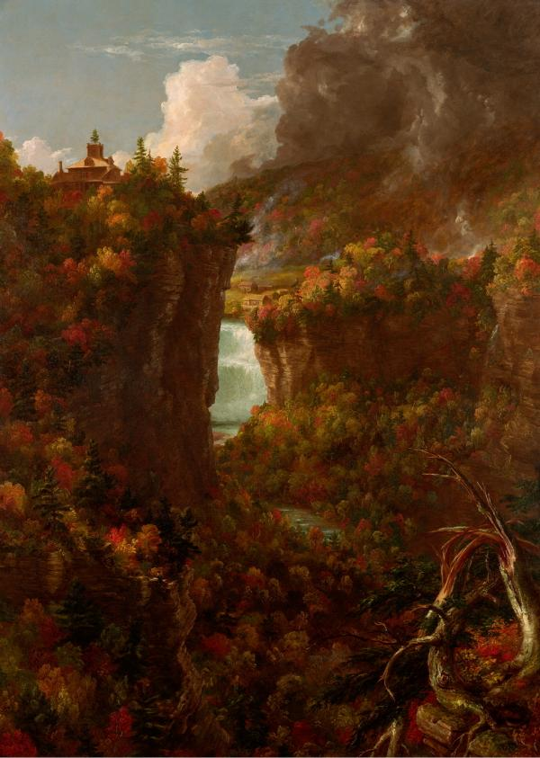 Thomas Cole completed <em>Portage Falls on the Genesee</em> in 1839.