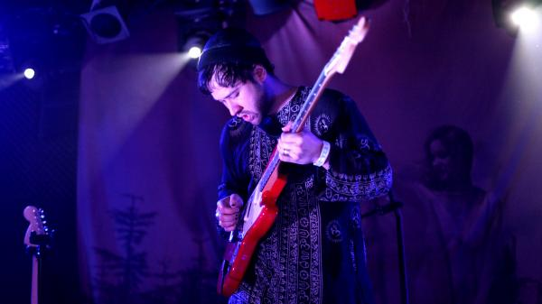 Unknown Mortal Orchestra performs live at the Rock and Roll Hotel in Washington, D.C., on Feb. 27, 2013.