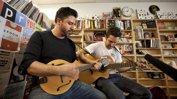 Frank Turner performs at a Tiny Desk Concert in June.