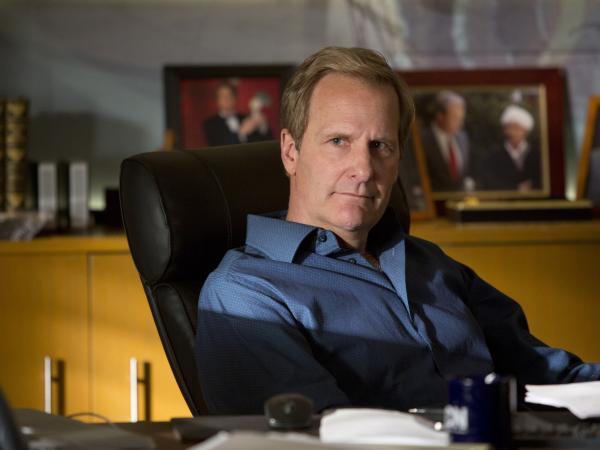 Jeff Daniels returns to Aaron Sorkin's HBO series <em>The Newsroom</em> as cable news anchor Will McAvoy.