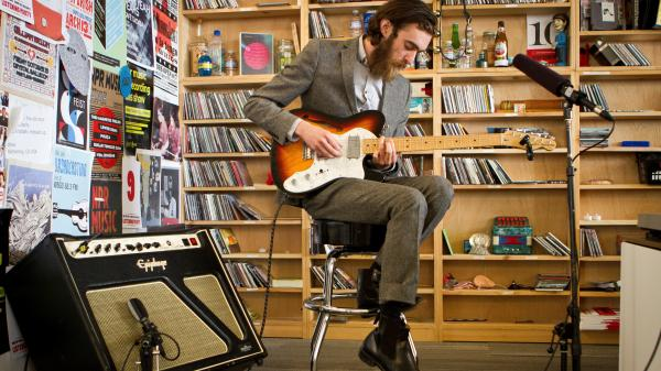 Keaton Henson performs a Tiny Desk Concert on Friday, May 24, 2013 at NPR headquarters in Washington, D.C.