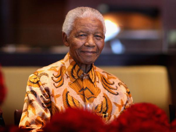 Nelson Mandela photographed during a lunch to Benefit the Mandela Children's Foundation in April 2009 in Cape Town, South Africa.