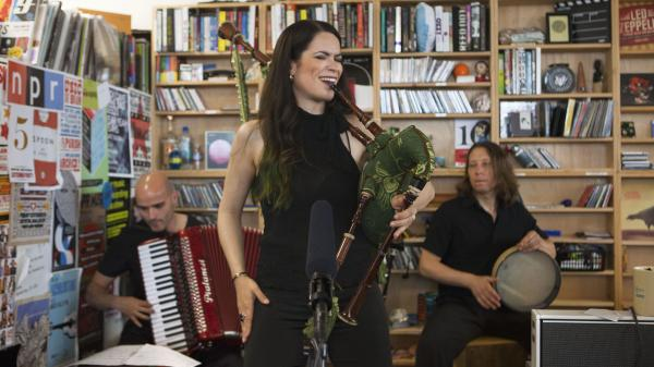 Cristina Pato Trio performs a Tiny Desk Concert in June 2013.