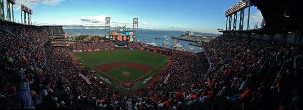 A general view of the field  at AT&T Park in San Francisco.