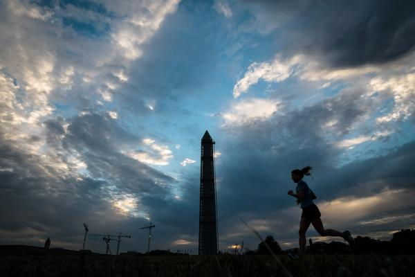 Some things even Washington dysfunction can't touch, like the sight of a new day dawning near the Washington monument.