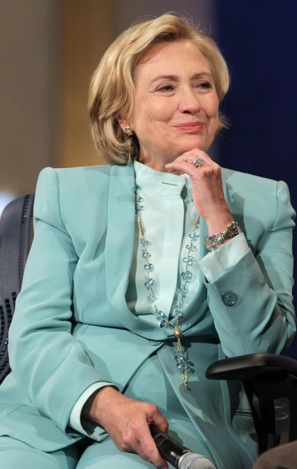 Hilary Clinton at last week's Clinton Global Initiative forum in in New York City.