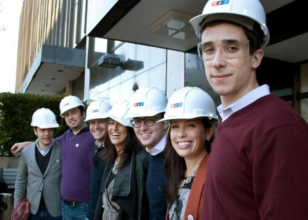 Generation Listen members prepare to tour the new NPR HQ.