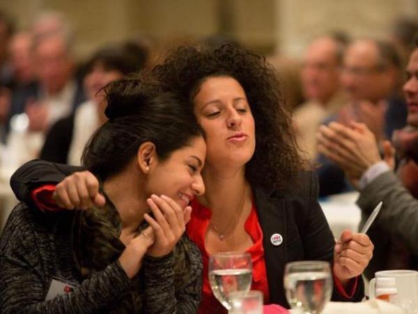 Azita Ardakani and Emily Greener at Weekend In Washington.