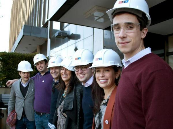 Generation Listen members prepare to tour NPR's new HQ.