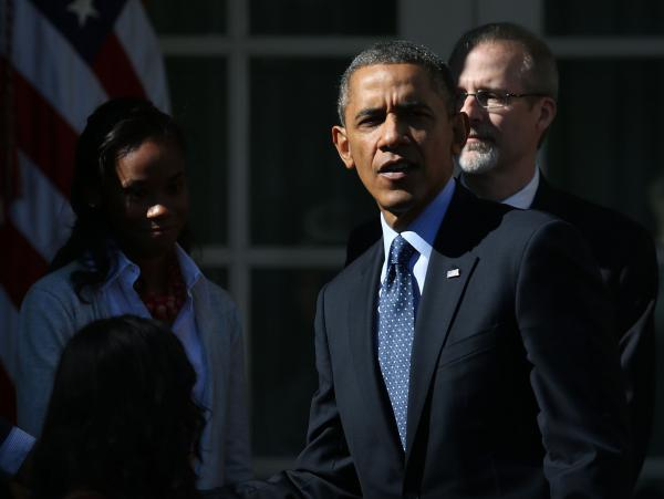 The mood wasn't sunny at the White House Rose Garden on Monday, as President Obama addressed the errors plaguing the computer system for health insurance enrollment.