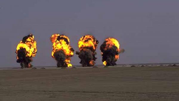 After the first Gulf War with Iraq, a U.N. team blew up rockets that had been filled with sarin.