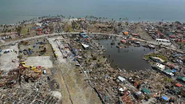 Typhoon Haiyan devastated the city of Tacloban in the Philippine province of Leyte.