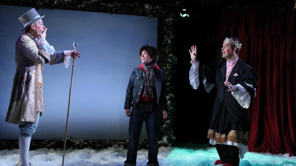 <em>Seven In One Blow</em>, which plays at New York City's Axis Theater, is one of many recurring holiday-season productions across the U.S. that bring a distinctly local flavor and history to bear.