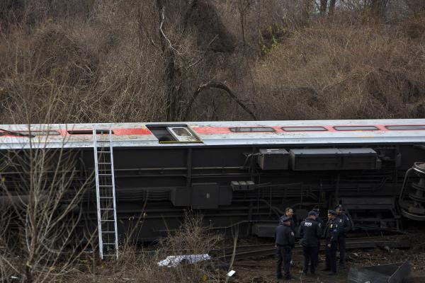 It wasn't immediately known how fast the train was travelling at the time of the accident.