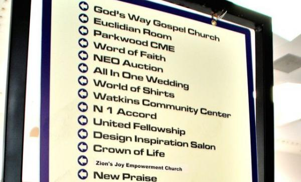 Euclid Square Mall in Northeast Ohio is now the site of 24 Christian congregations. (David C. Barnett/WCPN)