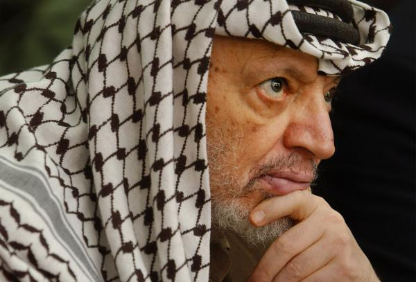 Palestinian leader Yasser Arafat in 2002.