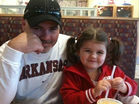 Todd Mills and his daughter.