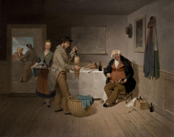 <p>Francis W. Edmonds' <em>The Epicure</em>, 1838, is one of the earliest depictions of a tavern meal in American history, says Judith A. Barter, curator of American art at the Art Institute of Chicago. She says it represents America at a political crossroads between urban and rural ways of life and styles of government. (The Ella Gallup Sumner and Mary Catlin Sumner Collection Fund)</p><p></p>