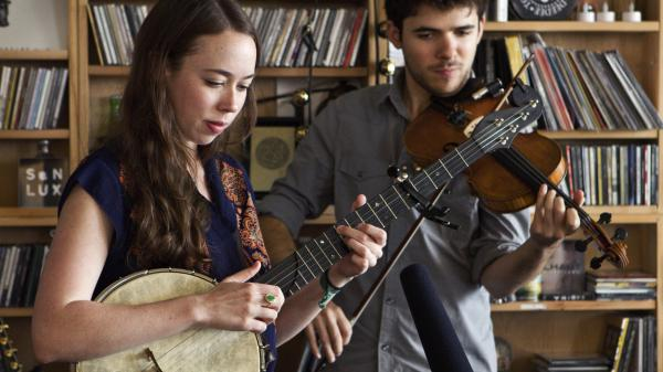 Sarah Jarosz performs a Tiny Desk Concert in September 2013.