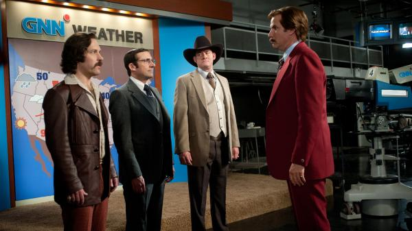 The massive marketing campaign for <em>Anchorman 2: The Legend Continues</em> has gone way beyond trailers and commercials. Some critics say the journalists are embarrassing themselves — and some say the character has become tiresomely ubiquitous.