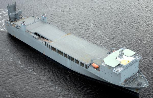 If a plan taking shape is finalized, the MV Cape Ray, managed by the U.S. Department of Transportation, will be turned into a floating chemical weapons disposal plant.