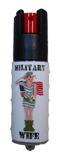 "Rose Guardian offers stylish self-protection products to women, including ""Military Wife"" pepper spray."