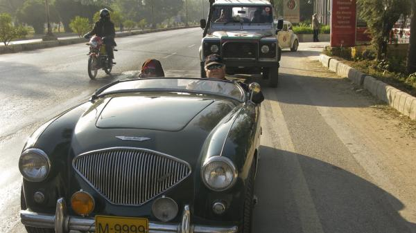Mohsin Ikram drives a 1954 Austin-Healey across Pakistan. As the head of Pakistan's Vintage and Classic Car Club, he's doing it mostly because he loves the open road. But he also sees it as a statement against the turmoil that has made parts of the country no-go zones.
