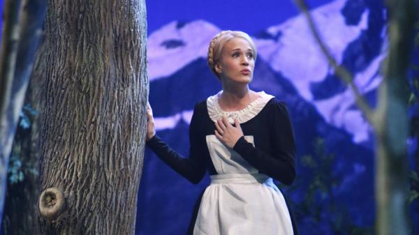 "<strong>""DOUGH a crust, an unbaked crust ..."":</strong> Carrie Underwood may have played Maria in NBC's <em>The Sound of Music Live</em>, but on Twitter, it was @DiGiorno that stole the show."
