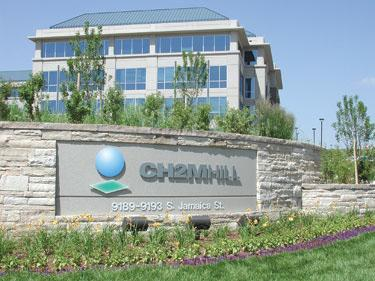 File photo of the CH2M Hill office in Englewood, Colo.