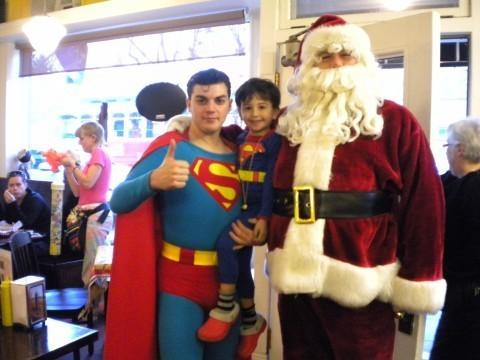 After he and his son Simon encountered both Santa Claus and Superman in an ice cream parlor, NPR's Alan Greenblatt sent out this holiday photo in 2010.