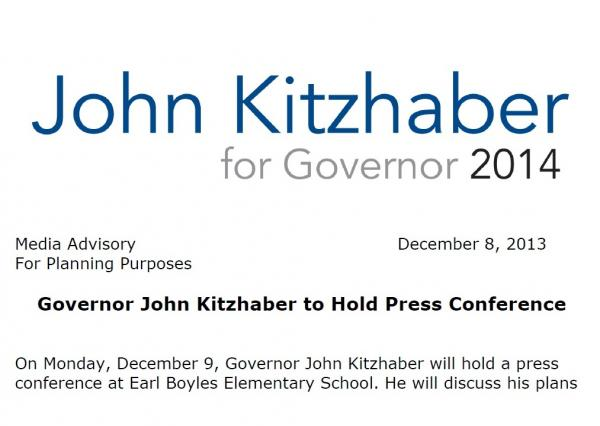The invitation to the governor's event leaves little doubt as to the Democrat's future plans.