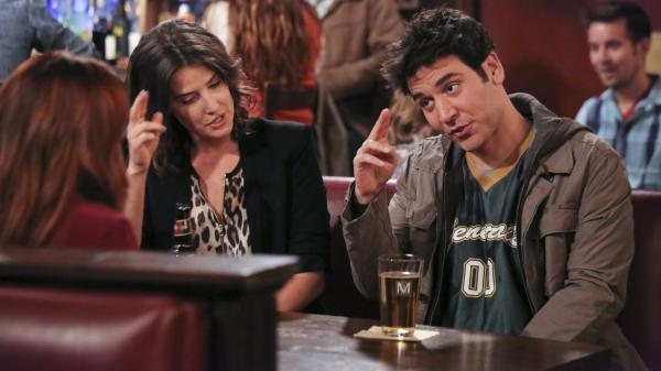 Robin (Cobie Smulders) and Ted (Josh Radnor) in a recent <em>How I Met Your Mother </em>episode.