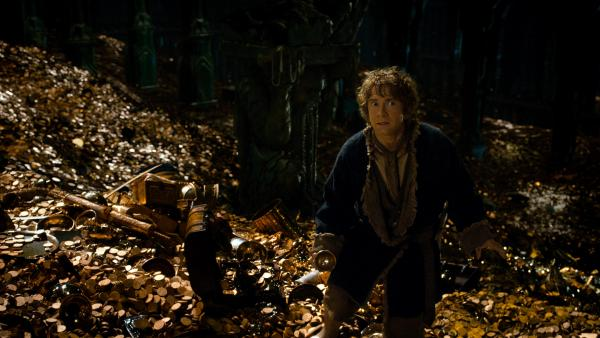 Bilbo Baggins (Martin Freeman) is back for the second installment of the <em>Hobbit </em>trilogy, this time actually spending some time with Smaug the dragon (voiced by Benedict Cumberbatch).