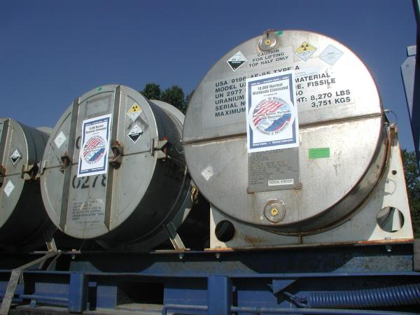 Inside these cylinders lies uranium that was once part of a Soviet nuclear weapon. Today it's being used in the US as fuel for commercial nuclear reactors.