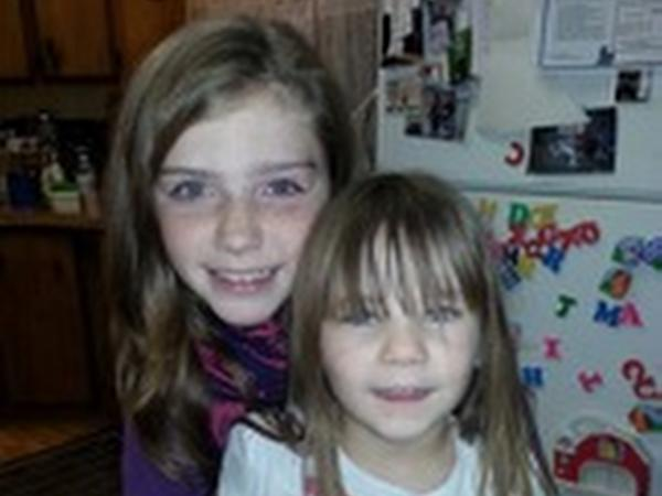 "This undated family photo provided by the Pershing County Sheriff's Office shows Shelby Fitzpatrick (left) and Chloe Glanton, two of the children who were found ""alive and well"" after an extensive search in northern Nevada."
